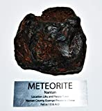 Fossil, Meteorites, & More NANTAN Iron Nickel Meteorite -Genuine-538.6 Gram + Label & COA# 14347 22o