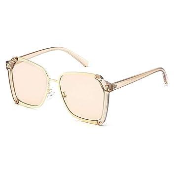 Gafas Mujer Versión Coreana de Las Gafas de Sol Amarillas ...