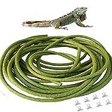 Flexible Bend-A-Branch Jungle Vines Plastic Terrarium Plant Leaves Pet Habitat Decor for Lizard,Frogs, Snakes and More Reptiles (2.5m/8.2ft)