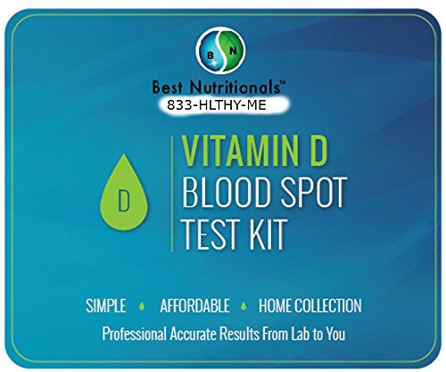 Vitamin D Pro Quality Home Test For Vitamin D Deficiency - Easy Spot Test Gives Accurate Vit D 25-OH Level