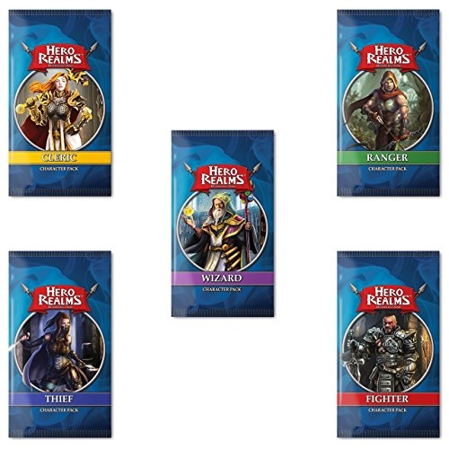Hero Realms Character Pack Bundle (Cleric, Ranger, Fighter, Thief, Wizard) (Character Bundle)
