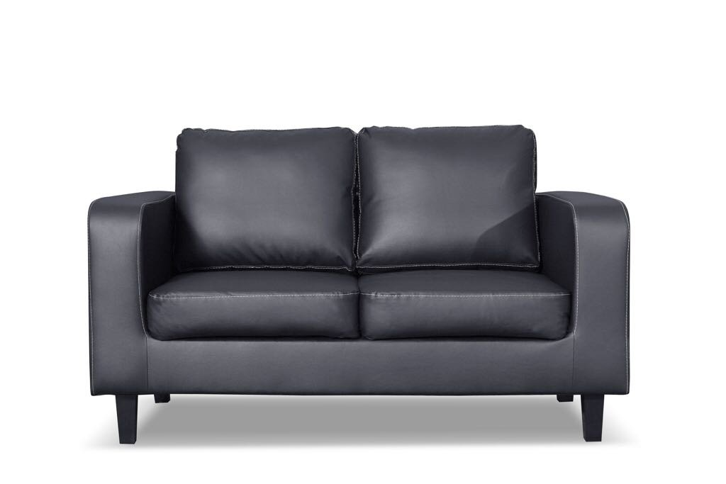 Terrific New Black Box Sofa Set 3 2 1 Faux Leather Bargain Price 3 Unemploymentrelief Wooden Chair Designs For Living Room Unemploymentrelieforg