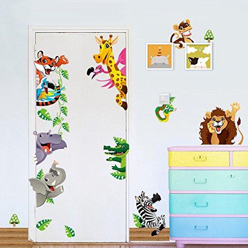 ElecMotive Jungle Sticker Bedroom Animals