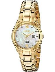 Seiko Womens SUT216 Analog Display Analog Quartz Gold Watch