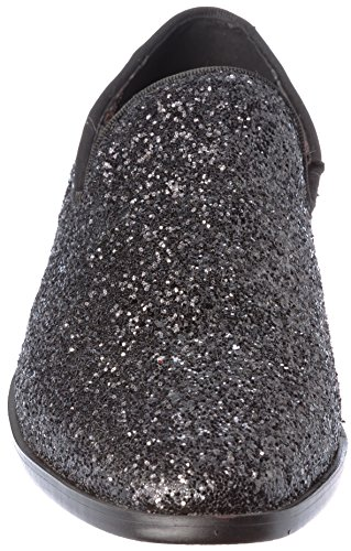 Mens Loafer-Fashion Slip-On Sparkling-Glitter Black Dress-Shoes Size 9 by Alberto Fellini (Image #1)