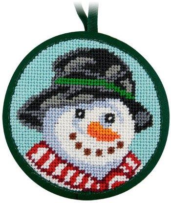 Snowman Christmas Ornament - Needlepoint Kit - Amazon.com: Snowman Christmas Ornament - Needlepoint Kit