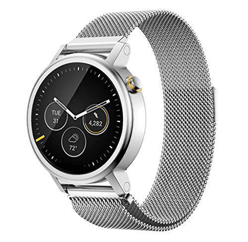 1PC Watch Band For Men's 46mm MOTO 360 2nd Watch Usstore Perfect Wrist Band Milanese Magnetic Loop Stainless Steel Bracelet (G)