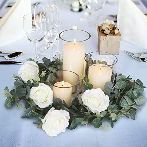 Blissful Moment Artificial Eucalyptus Garland for Weddings, Table Runner, Home Decor, Backdrop and Christmas Decoration Wreath