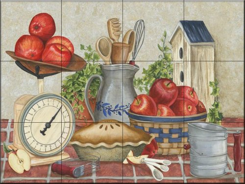 Ceramic Tile Mural - Moms Apple Pie- by Mary Lou Troutman - Kitchen backsplash/Bathroom ()