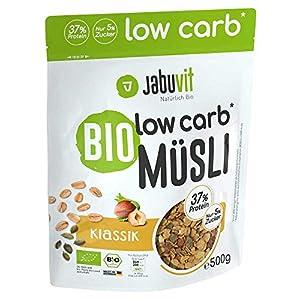 JabuVit - Müsli biologici a basso contenuto di carboidrati e solo circa il 5% di zucchero, 500 g (classico) 3 spesavip