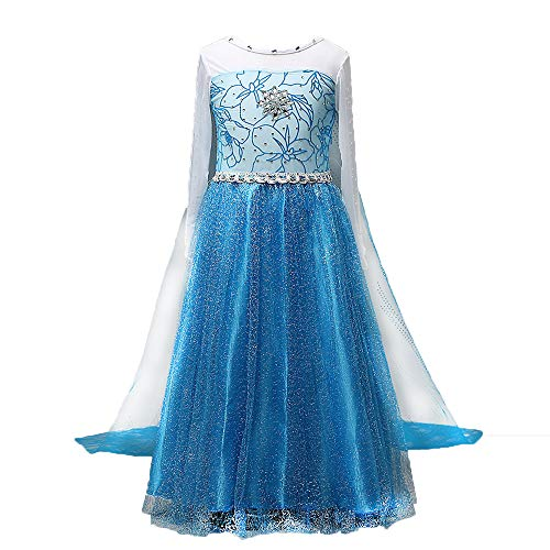 Halloween Christmas Girl Ice Frozen Aisha Princess Dress Children's Performance Dress, Anime Cosplay Stage Performance Costume -