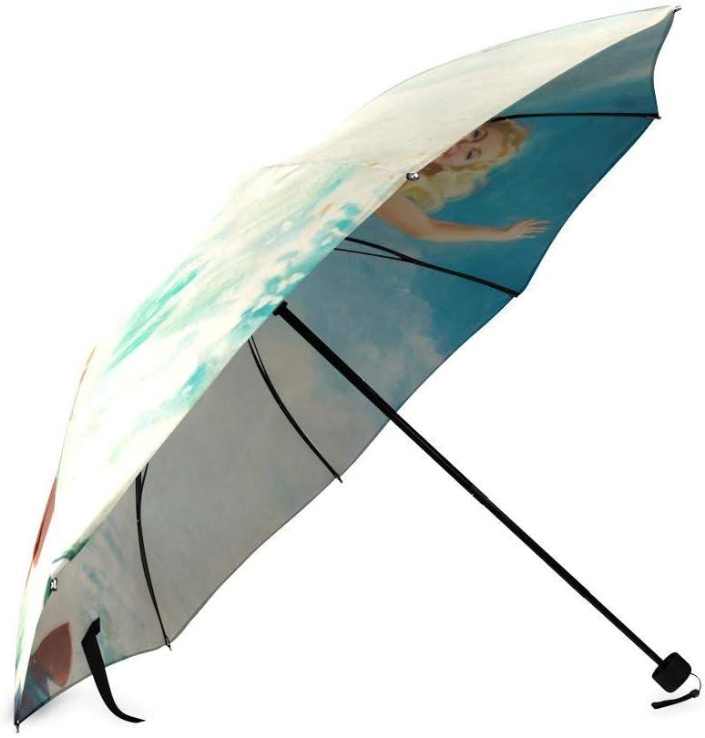 Beautiful Pin up Girl Foldable Rain Umbrella Compact Parasol//Sun Umbrella