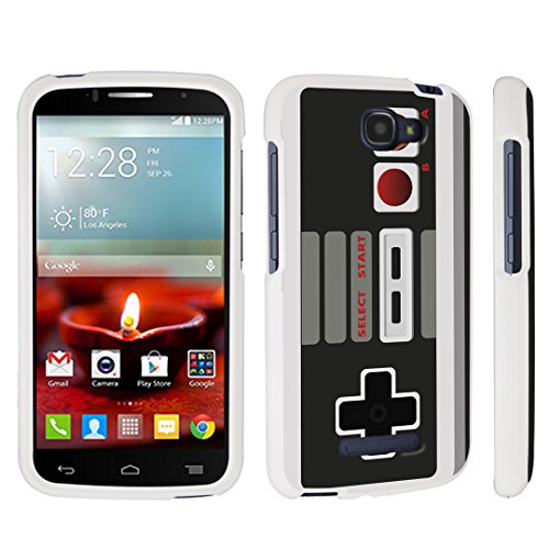 DuroCase ® Alcatel OneTouch Fierce 2 7040T (2014 Released) Hard Case White - (Game Controller)