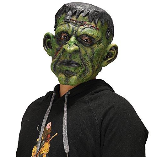 Halloween Evil Scary Devil Green Monsters Man's Horror Zombie Mask -