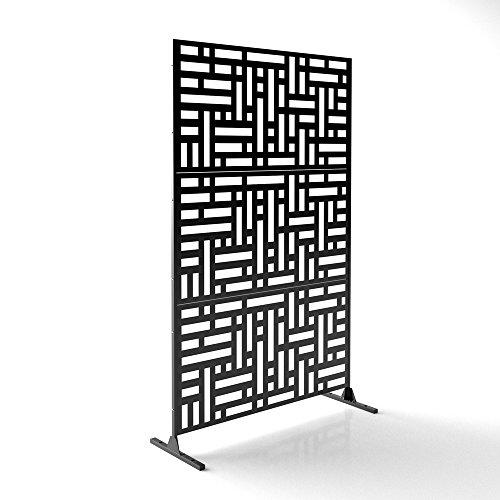 Veradek Blocks Decorative Screen Set w/Stand – Black For Sale