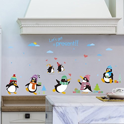 - Let'S Diy Cute Cartoon Penguin Wall Sticker Removable Wall Sticker Vinyl Decal Kids Nursery Decor Mural Art