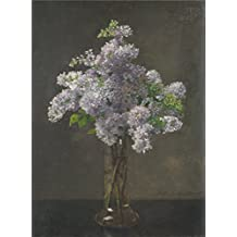 Oil painting 'Otto Franz Scholderer Lilac ' printing on polyster Canvas , 24 x 33 inch / 61 x 83 cm ,the best Kids Room gallery art and Home decoration and Gifts is this Replica Art DecorativeCanvas Prints