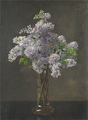 Oil Painting 'Otto Franz Scholderer Lilac', 30 x 41 inch / 76 x 104 cm , on High Definition HD canvas prints is for Gifts And Bath Room, Kids Room And Nursery Decoration, making your own