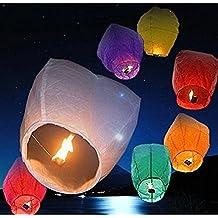 Rainbow Love 10 Pack Multicolor Chinese Sky Lanterns Wish Balloon Wishing Lamp Wishing Light for Wedding Birthday Christmas Party
