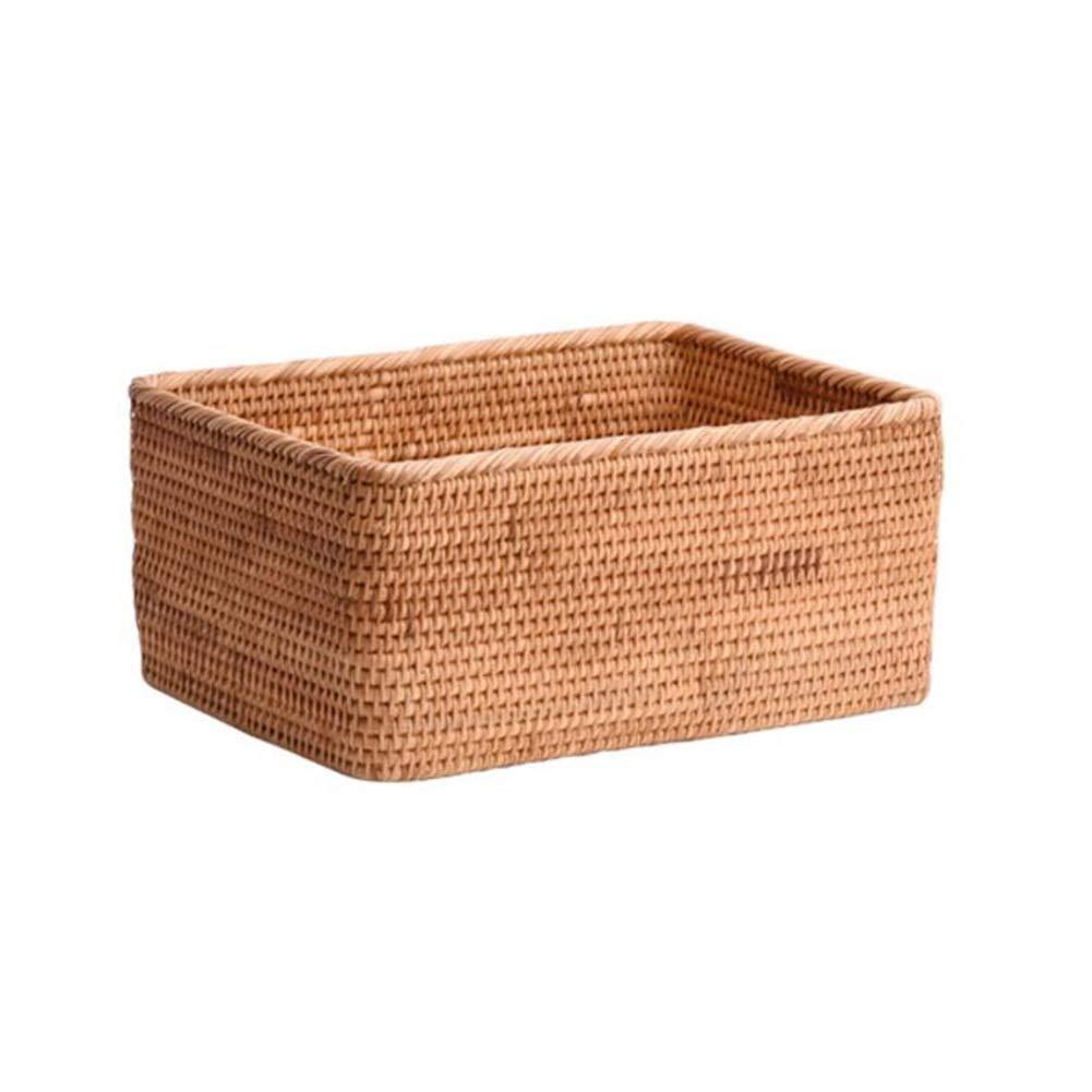 T1 32x23x16cm MUMA Storage Basket Handicraft Woven Clothes Snack Desktop Organizer Container Multiple Sizes Optional (color   T1, Size   28x18x14cm)