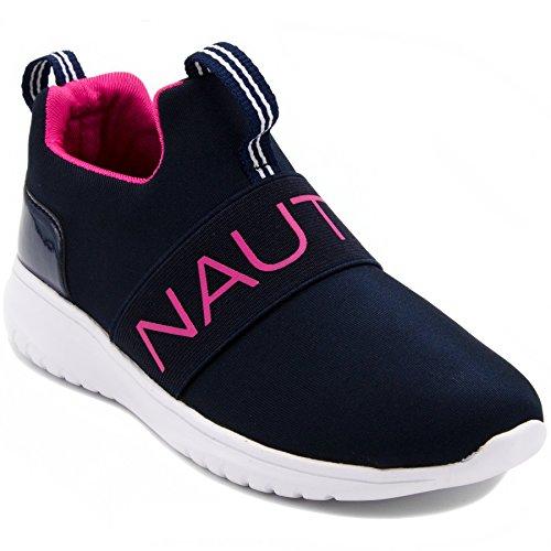 Nautica Kids Girls Youth Fashion Sneaker Running Shoes-Canvey Girls Navy Mesh-13 (Jordan Kids Girl Shoes)