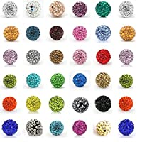 12MM Disco Balls Clay Beads Czech Crystal Shamballa Pave Premium Quality DIY By eArt