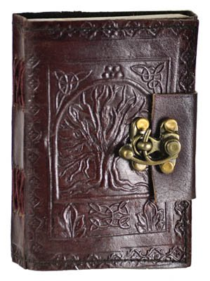 Leather Celtic Tree of Life Book of Shadows Blank Spell Book Wicca ~ by Raven Blackwood
