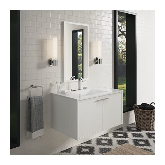 KOHLER K-99542-1WA Jute Vanity with 2 Doors, 36-Inch, Linen White - Combines with Solid/Expressions(TM) and Ceramic/Impressions(TM) vanity tops (sold separately) for a complete vanity Frameless construction with full-overlay doors Three-way adjustable slow-close door hinges with 110-degree opening capability for easy cabinet access - bathroom-vanities, bathroom-fixtures-hardware, bathroom - 51euFrnC1oL. SS570  -