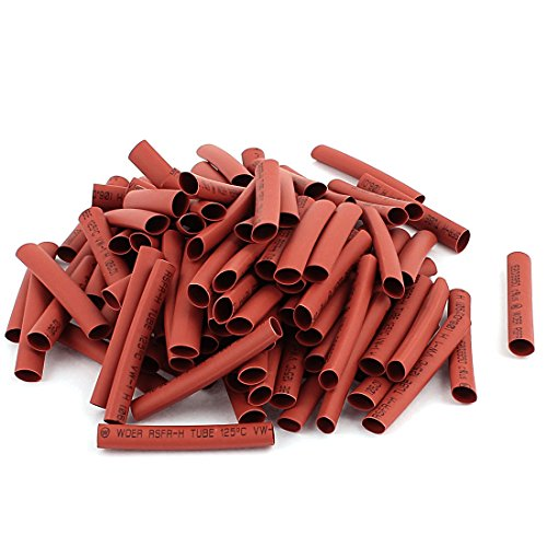 UPC 712662773092, uxcell Electrical Cable Sleeve Heat Shrink Wrap Tubing 50mm Long 100Pcs Red