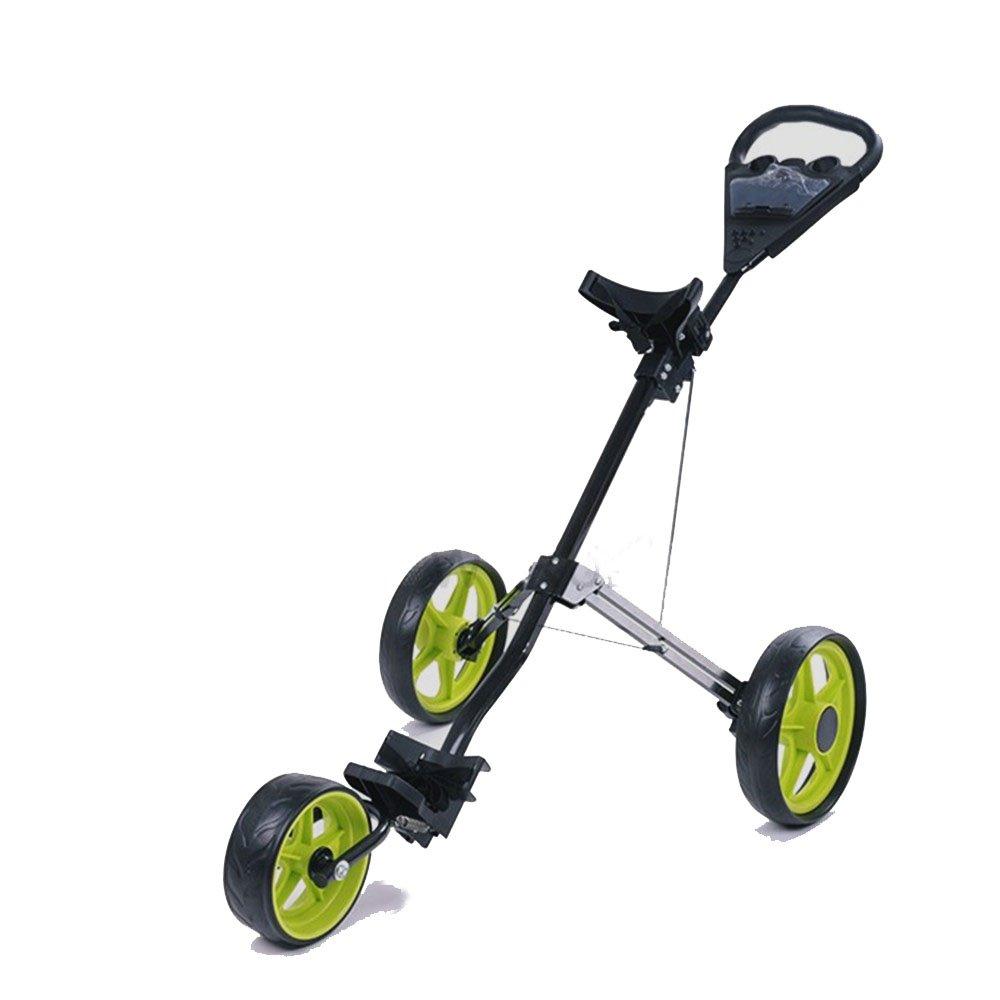 ゴルフボール 折り畳み式3輪ゴルフバッグトロリープッシュ&プルグルーフカートクイックフォールド ゴルファーへのギフト