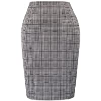 Kate Kasin Womens Elastic Waist Stretch Bodycon Business Pencil Skirt