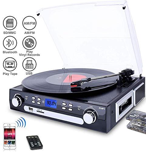 bluetooth viny record player turntable