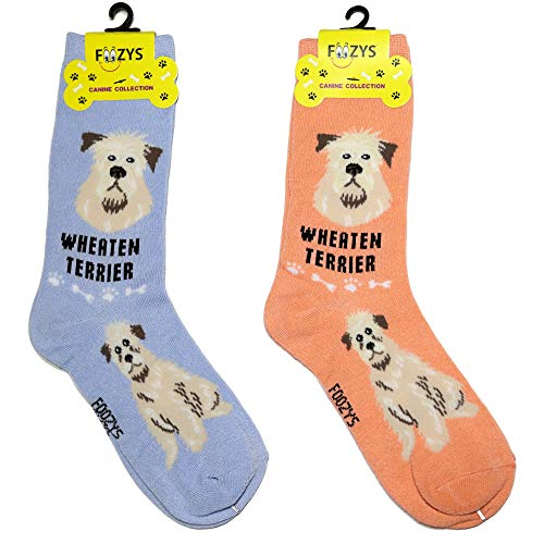 Foozys Unisex Crew Socks | Canine/Dog Collection | Wheaten - Terrier Womens Sock