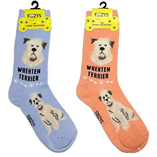 - Foozys Unisex Crew Socks | Canine/Dog Collection | Wheaten Terrier