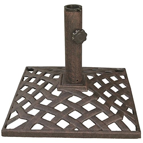 Darlee Basket Weave Patio Umbrella Base in Antique Bronze by Darlee