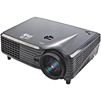 B2COOL 2200 Lumen LCD LED Projector Full HD Multimedia Home Theater Projection Business Projectors Support HDMI VGA AV USB for Education Video Movie Bussiness Meeting