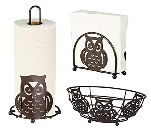 Cheap Food Storage & Organization Sets deluxe owl collection 3pc kitchen table d cor set