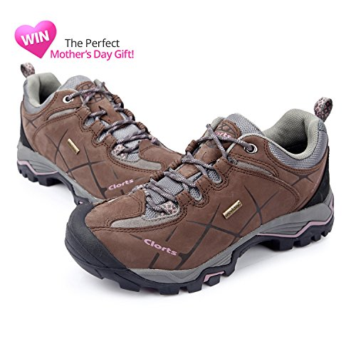 Women's Waterproof Shoe Nubuck Shoe Hiking HKL805 Clorts Brown Trail 7fnSf