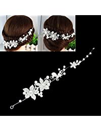 Mimgo Store Wedding Bridal Tiara Rhinestone Crystal Crown Prom Headband Hair Clip