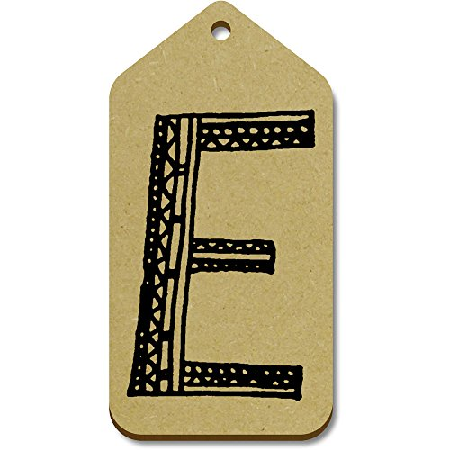 Tag 'lettera E' bagaglio maiuscola X regalo tg00014254 Azeeda Grande 10 99mm 51mm naO8Wxcxw