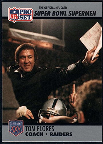 Football NFL 1990-91 Pro Set Super Bowl 160 #25 Tom Flores CO ()