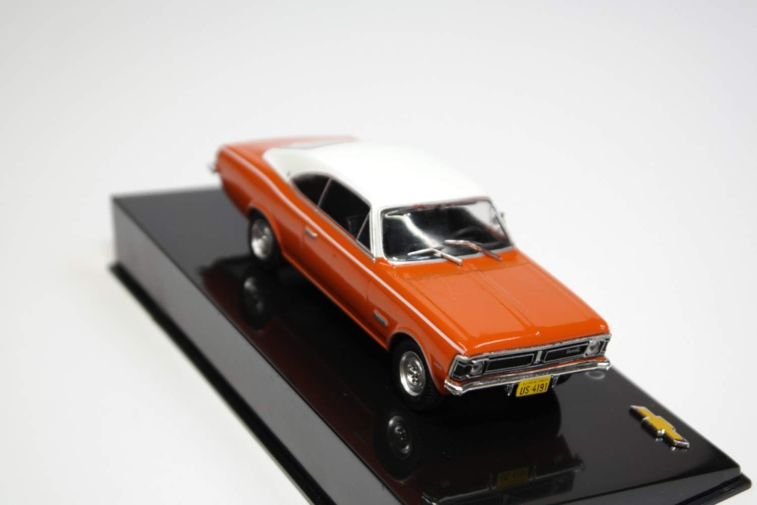 Chevrolet Opala Gran Luxo Hugger Orange with Antique White Roof 1971 Year - Executive Car - 1/43 Scale Collectible Model Vehicle - Chevrolet Collection #26 by 1/43 AZEBUY - SEDANS