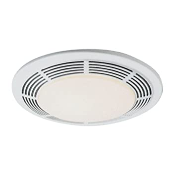 Nutone 8663RP Decorative Deluxe Fan/Light/Night Light W/ Round White Grille  100