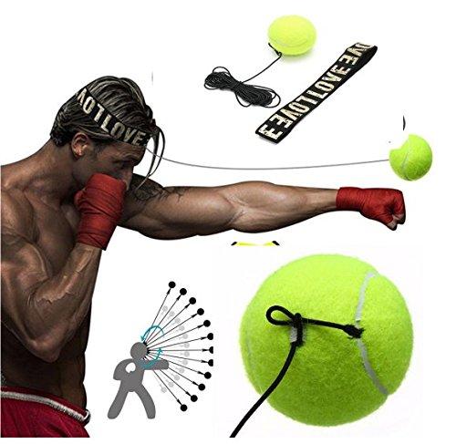 sal Pro de Boxe Vitesse de Balle de Tennis Reflex d'entraînement Practise Sport Bandeau Speedball