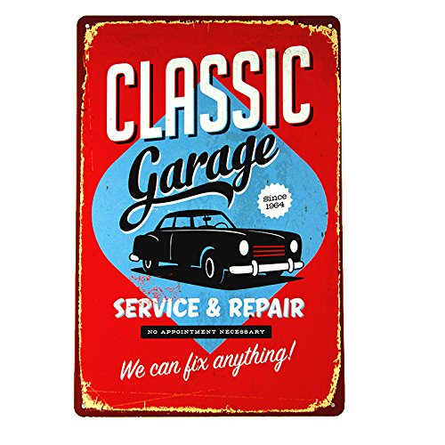 Repair Service Tin Sign (DL-Classic Garage service&repair Tin Sign, Gas Oil, Hot/Rat Rod, Street Rod, Man Cave)