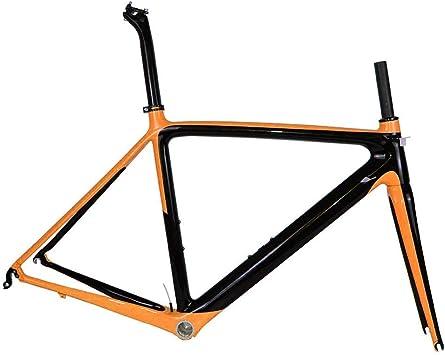 Nuevo cuadro de bicicleta de carretera modelo de carbono 2019 Di2 y bicicleta de carrera BSA tamaño 50/53/55 cm (naranja),55cm: Amazon.es: Bricolaje y herramientas
