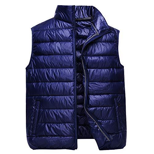 Uomo Giacca Cotone Inverno Gilet Gilet Leggero Reale Caldo Blu Giù Di Kindoyo wUp4aqgx