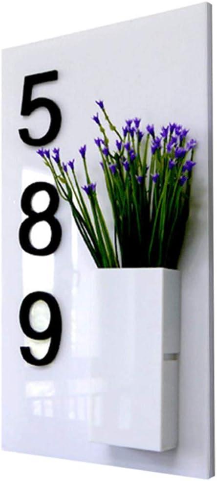 YXN Placa Blanca de la Caja del Hotel del Chalet del número de la casa de Digitaces 35X20 cm: Amazon.es: Hogar