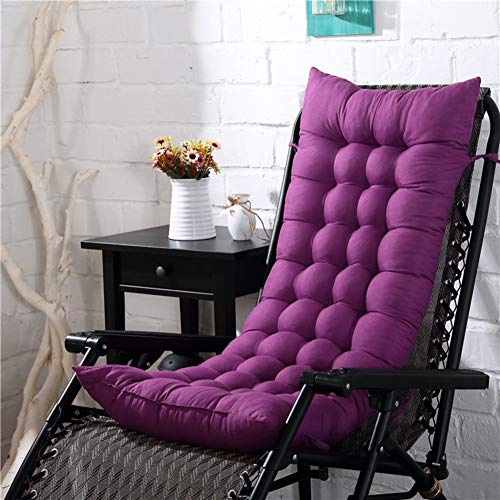 JanIST Not-Slip Thicken Lounge Chair Cushion with Ties, Soft Recliner Cushion, Quilted Backrest Pad Chair Pads Keep Warm Breathable-h 125x48x8cm