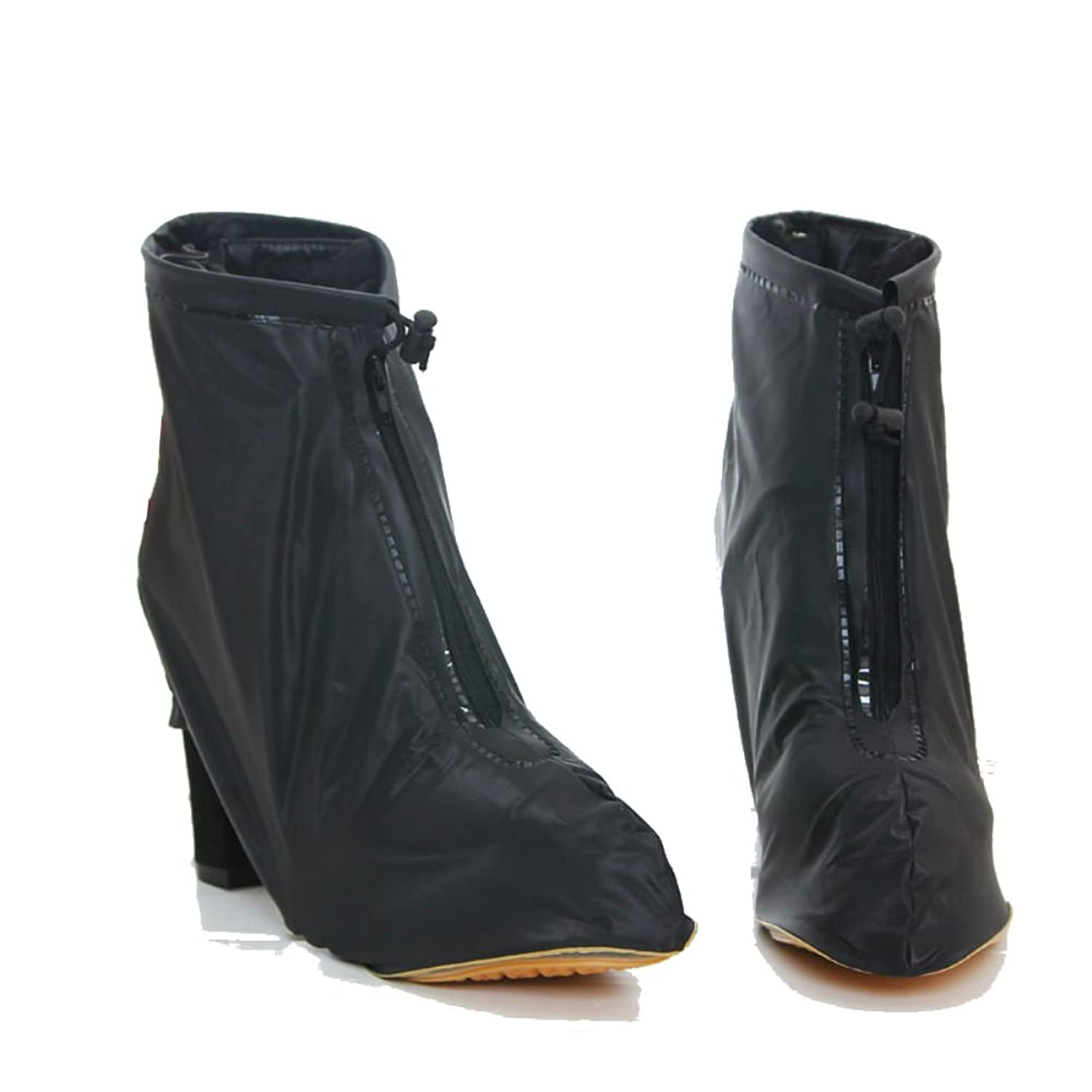 Retro Boots, Granny Boots, 70s Boots Rain Shoes Cover Guard Overshoe High Heels $13.00 AT vintagedancer.com